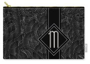 Deco Jazz Swing Monogram ...letter M Carry-all Pouch