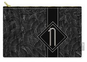 Deco Jazz Swing Monogram ...letter N Carry-all Pouch