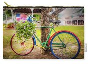 Decorated Bicycle In The Park Carry-all Pouch