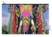 Decorated Indian Elephant Carry-all Pouch