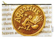 Decorative Aquarius Carry-all Pouch