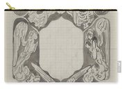 Decorative Design With Angels, Carel Adolph Lion Cachet, 1874 - 1945 Carry-all Pouch