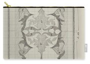Decorative Design With Color Indications, Carel Adolph Lion Cachet, 1874 - 1945 Carry-all Pouch