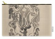 Decorative Design With Crowned W Surrounded By Persons, Carel Adolph Lion Cachet, 1874 - 1945 Carry-all Pouch