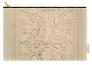 Decorative Design With Eight Seated Women, Carel Adolph Lion Cachet, 1874 - 1945 Carry-all Pouch