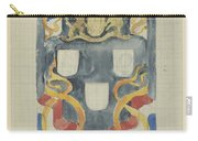 Decorative Design With The National Coat Of Arms, Flags And Banners, Carel Adolph Lion Cachet, 1874  Carry-all Pouch