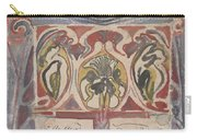 Decorative Design With Two Signatures, Carel Adolph Lion Cachet, 1874 - 1945 Carry-all Pouch