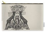 Decorative Design With Two Standing Deer, Carel Adolph Lion Cachet, 1874 - 1945 Carry-all Pouch