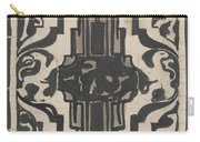 Decorative Design With Two Stylized Lions, Carel Adolph Lion Cachet, 1874 - 1945 Carry-all Pouch