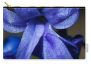 Deep Blue Flower Carry-all Pouch