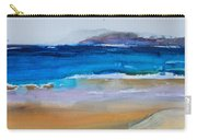 Deep Blue Sea And Golden Sand Carry-all Pouch