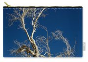 Deep Blue White Tree Carry-all Pouch
