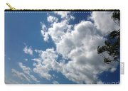 Deep Blue With Lovely Clouds Carry-all Pouch