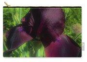 Deep Burgundy Iris Carry-all Pouch