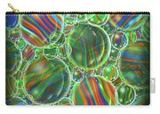 Deep Green Marbles Shower Curtain Carry-all Pouch
