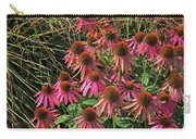 Deep Pink Echinacea Straw Flowers Green Leaf And Grass Background 2 9132017 Carry-all Pouch