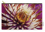 Deep Purple Clematis Carry-all Pouch