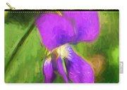 Deep Purple - Wildflower Art Carry-all Pouch