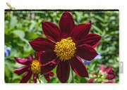 Deep Red And Yellow Flowers Carry-all Pouch