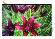 Deep Red Lillies Carry-all Pouch