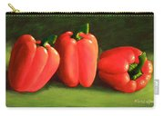 Deep Red Peppers Carry-all Pouch