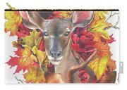 Deer And Fall Leaves Carry-all Pouch