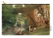 Deer By A River Carry-all Pouch