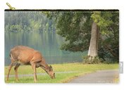 Deer By Crescent Lake Carry-all Pouch