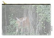 Deer By The Tree Line Carry-all Pouch
