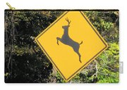 Deer Crossing Sign 2 Carry-all Pouch