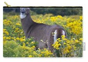 Deer In A Field Of Yellow Flowers Carry-all Pouch