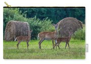Deer In A Hay Field Carry-all Pouch