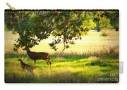 Deer In Autumn Meadow - Digital Painting Carry-all Pouch