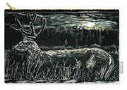 Deer In Moonlight Carry-all Pouch