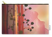 Deer In The Forest - Abstract And Colorful Mountains Carry-all Pouch