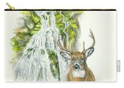 Deer In The Mist Carry-all Pouch
