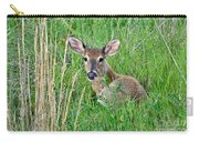 Deer Laying In Grass Carry-all Pouch