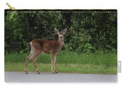 Deer On Road Carry-all Pouch