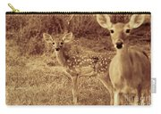 Deer Sepia V3 Carry-all Pouch