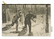 Deer-stalking In The Adirondacks In Winter Carry-all Pouch