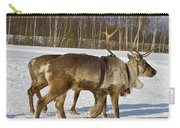 Deers Running On Snow Carry-all Pouch