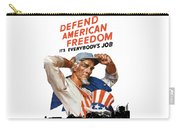 Defend American Freedom It's Everybody's Job Carry-all Pouch