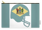 Delaware State Flag Football Helmet Carry-all Pouch