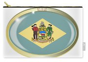 Delaware State Flag Oval Button Carry-all Pouch