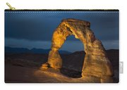 Delicate Arch At Night Carry-all Pouch by Adam Romanowicz