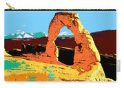 Delicate Arch Utah - Pop Art Carry-all Pouch