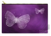 Delicate Butterflies Purple Carry-all Pouch