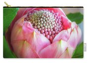 Delicate Pink Bud Waratah Flower Carry-all Pouch