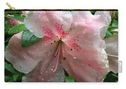 Delicate Pinks In Rain - Flower Photography Carry-all Pouch