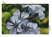 Delicate Plumbago Painted In Van Goch Style Carry-all Pouch